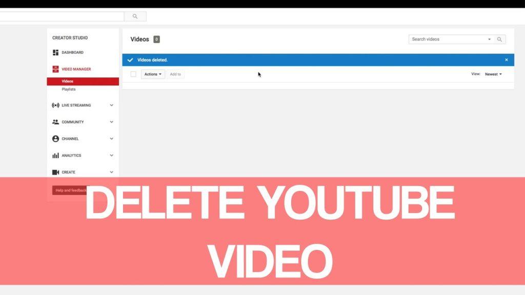 delete video